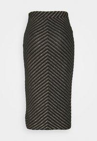 Pinko - GAS SKIRT - Pencil skirt - verde/nero/rame - 1
