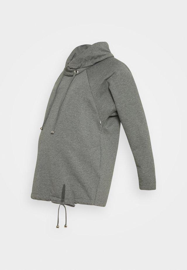 TORA - Jersey con capucha - grey