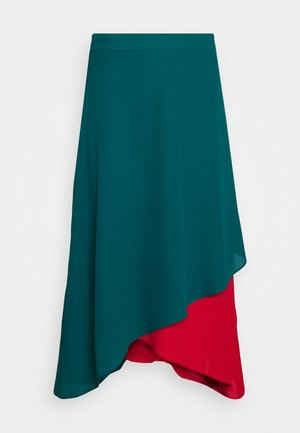 ASYMMETRIC LAYERED SKIRT - A-line skirt - jade/siren