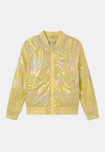 SPIDER KISS UNISEX - Bomber Jacket - lemon yellow