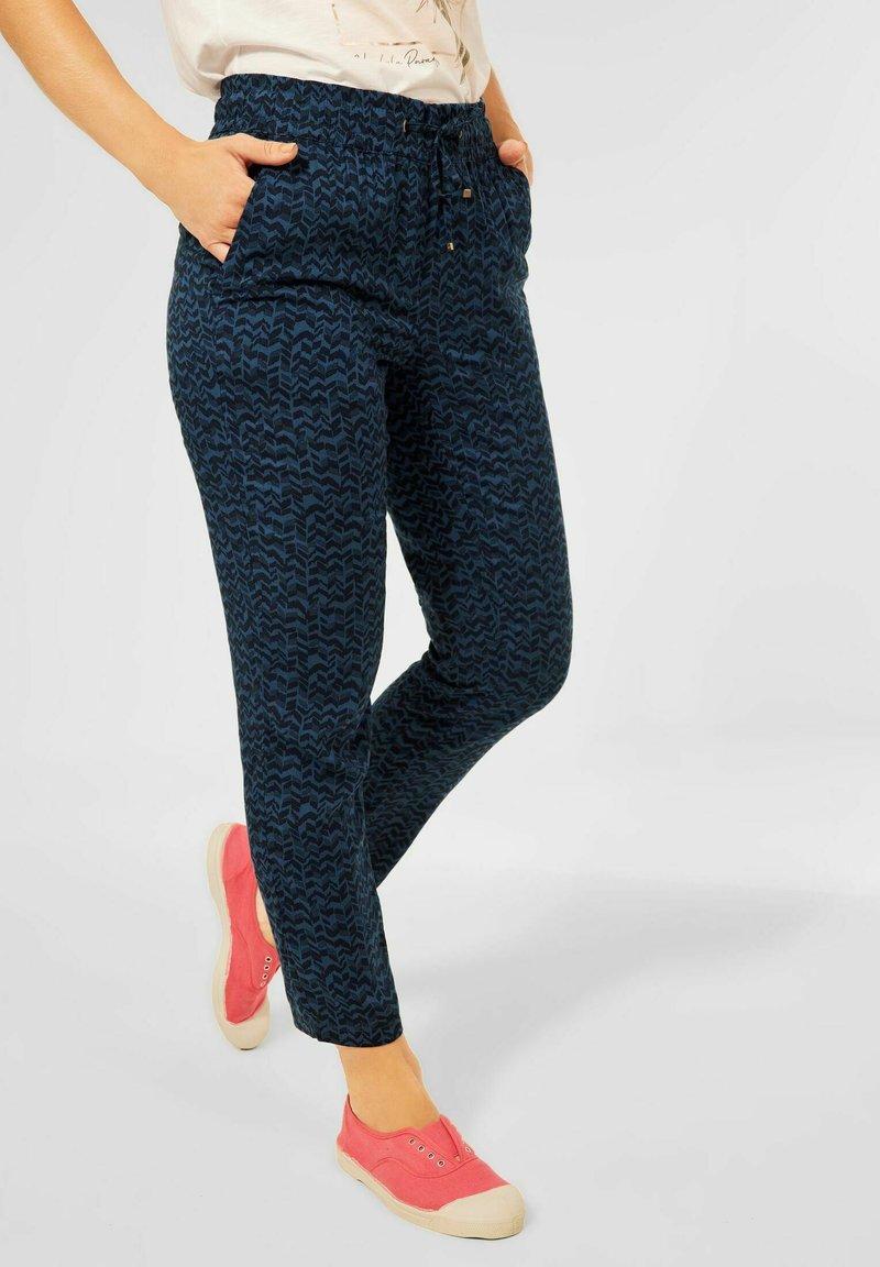 Cecil - LOOSE FIT  - Trousers - blau