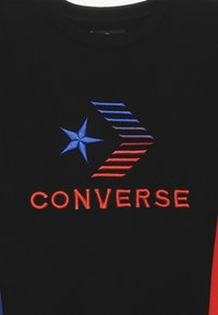 Converse - 3D EMBRIODERED COLOURBLOCK CREW - Sweatshirt - black - 3