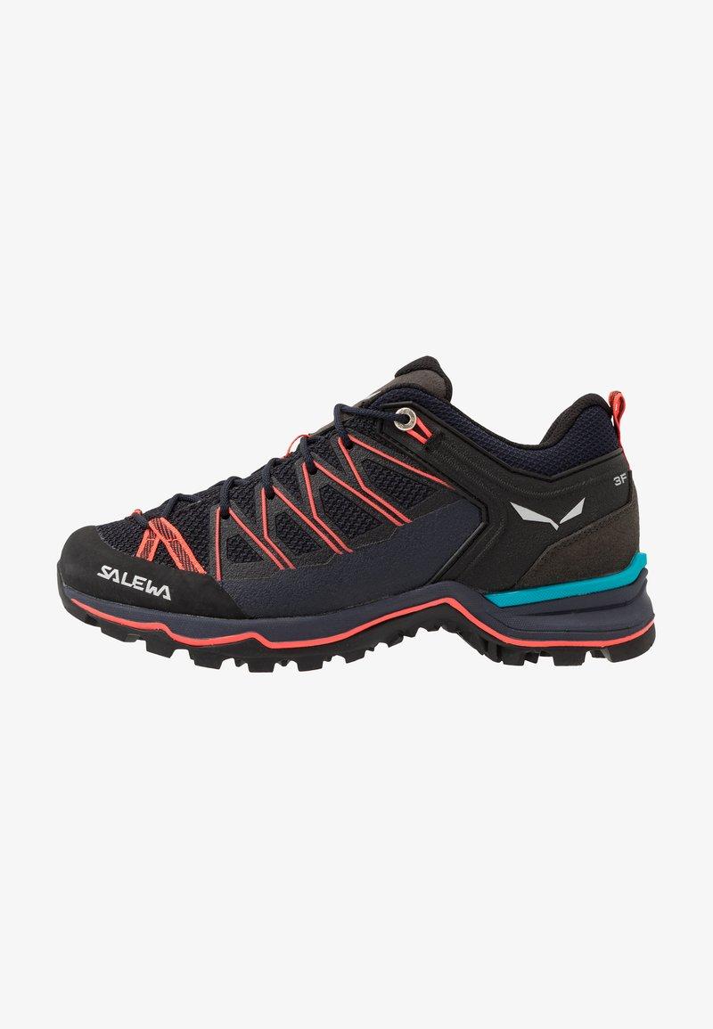 Salewa - MTN TRAINER LITE - Hiking shoes - premium navy/fluo coral