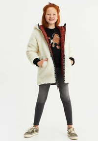 WE Fashion - MET CAPUCHON REVERSIBLE - Winter coat - terra cotta - 1