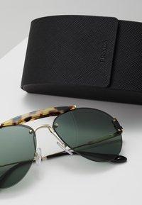 Prada - Sunglasses - medium havana/pale gold/light green - 2