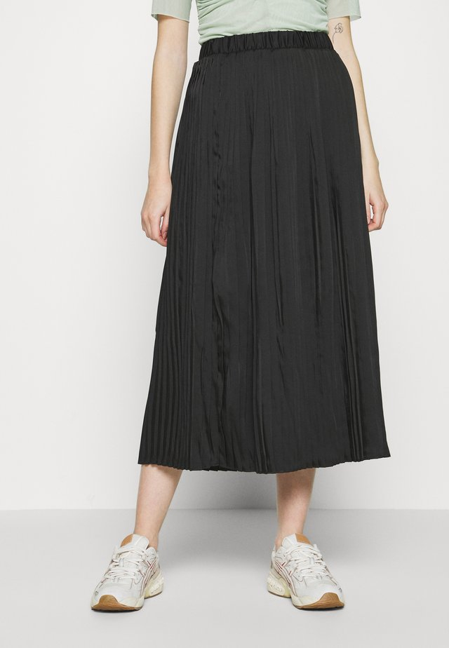VISYLLA PLISSE HW MIDI SKIRT/SU - Pleated skirt - black