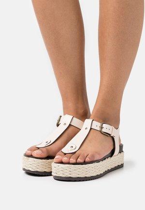 ILARIA - T-bar sandals - offwhite