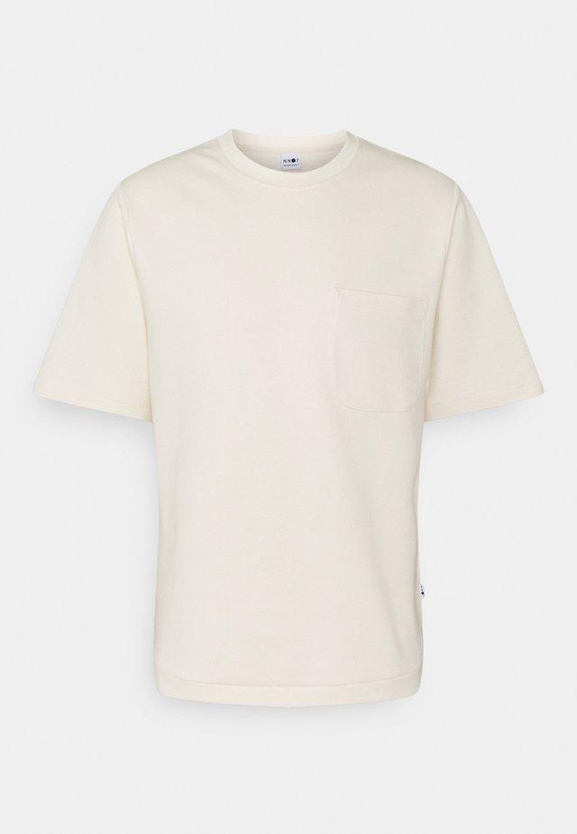 DENZEL - T-shirt basic - vanilla