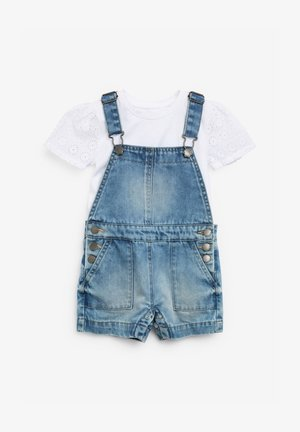 2 PIECE SET - Salopette - light-blue denim