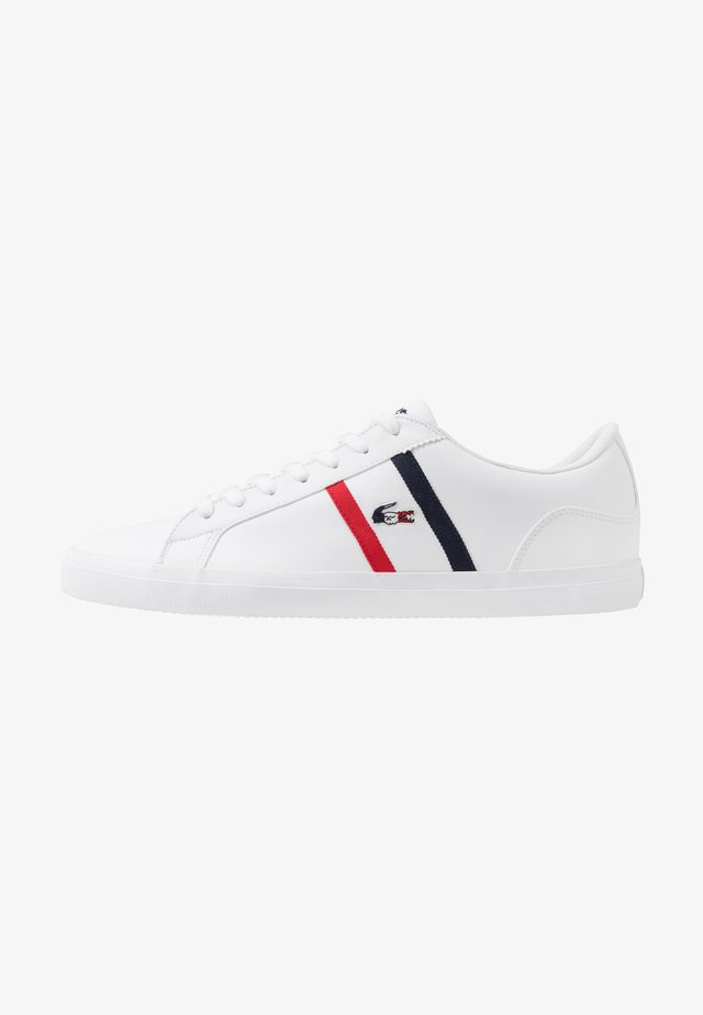 LEROND - Baskets basses - white/navy/red