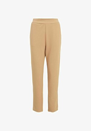 HIGH WAIST STRAIGHT FIT - Trousers - tigers eye