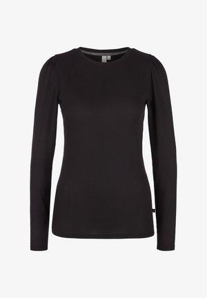 T-shirt à manches longues - black melange