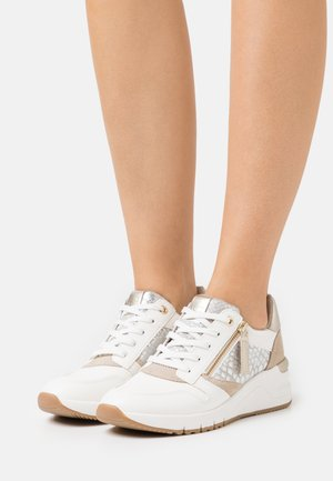 Sneakers laag - white/light gold