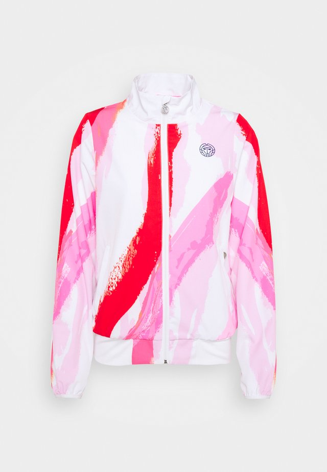 GENE TECH JACKET - Verryttelytakki - white/red
