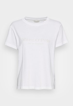 SHORT SLEEVE ROUND NECK PLACED PRINT - T-shirts med print - white