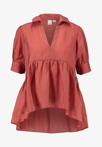 Lost Ink - OVERSIZED SMOCK BLOUSE - Blouse - rust - 3