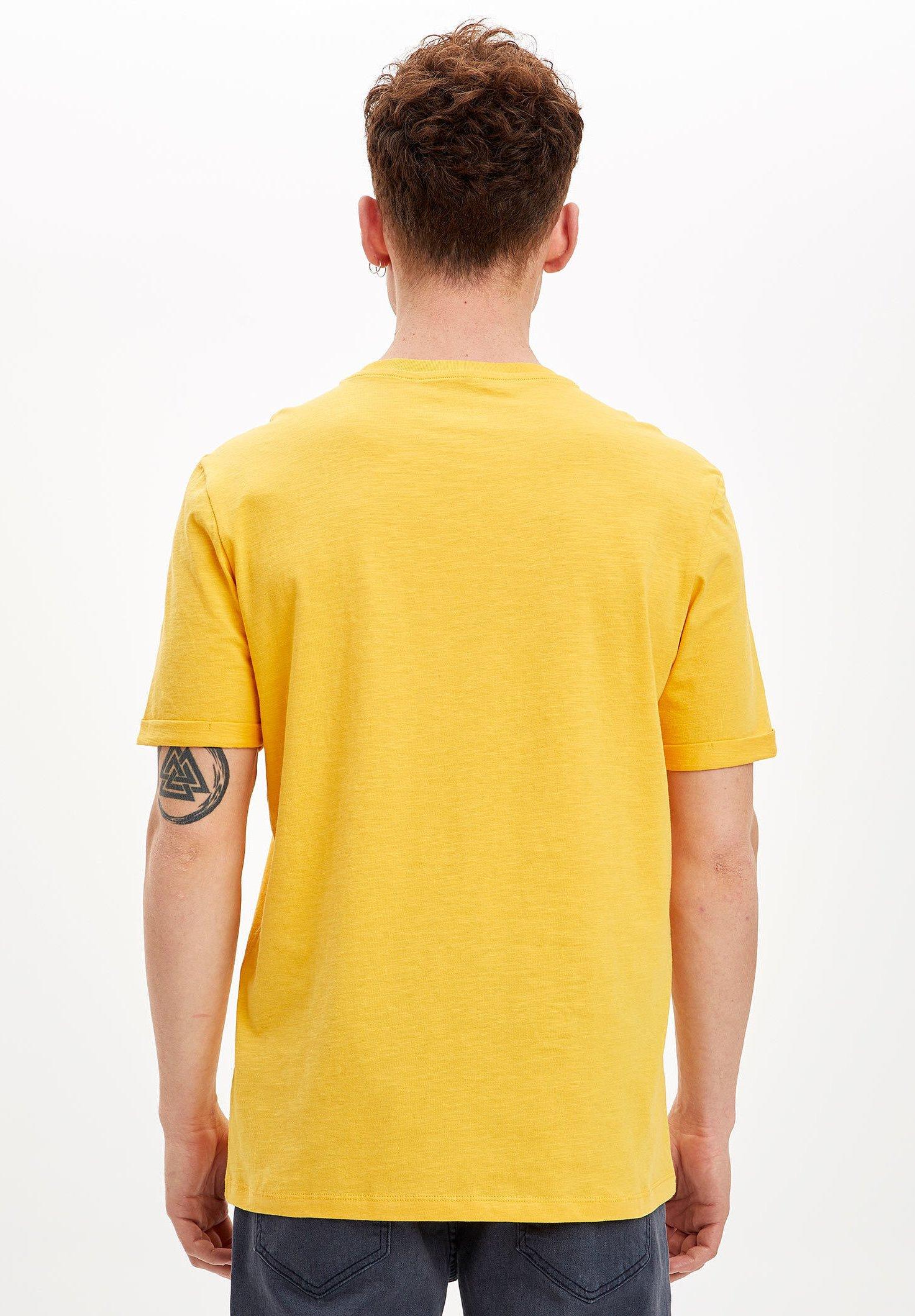 DeFacto Basic T-shirt - yellow wPRoS
