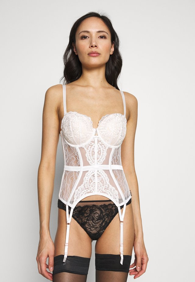 FIERCELY SEXY BASQUE - Corset - white/nude