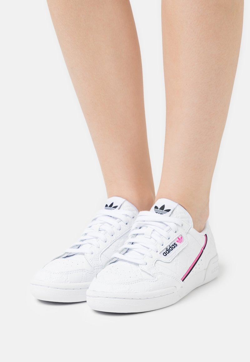 adidas Originals - CONTINENTAL 80 - Trainers - crystal white/screaming pink/core black