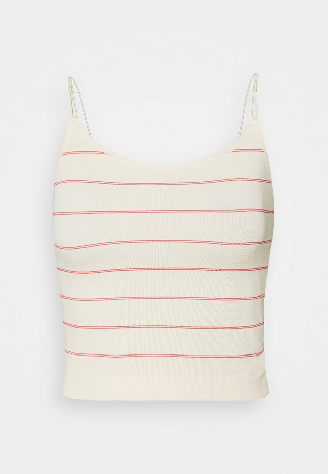 PCTYRUS STRAP - Top - buttercream/red