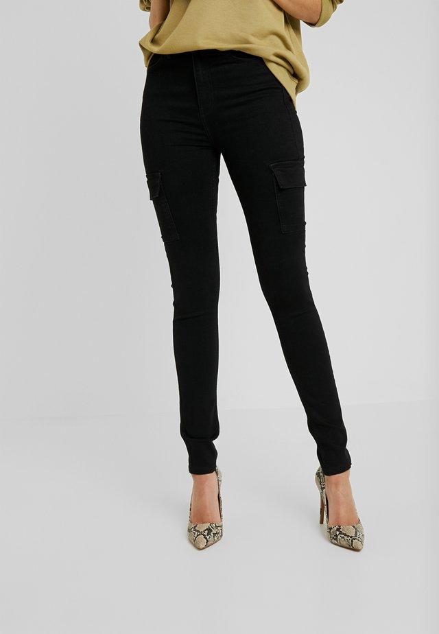 CARGO - Jeansy Skinny Fit - black
