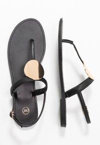 PARFOIS - Sandály s odděleným palcem - black - 3
