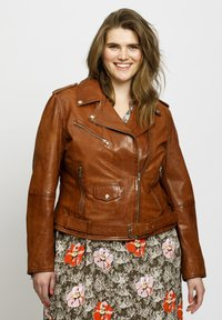 No.1 by Ox - Leather jacket - dark cognac - 0