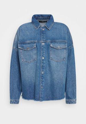 Button-down blouse - indigo blue