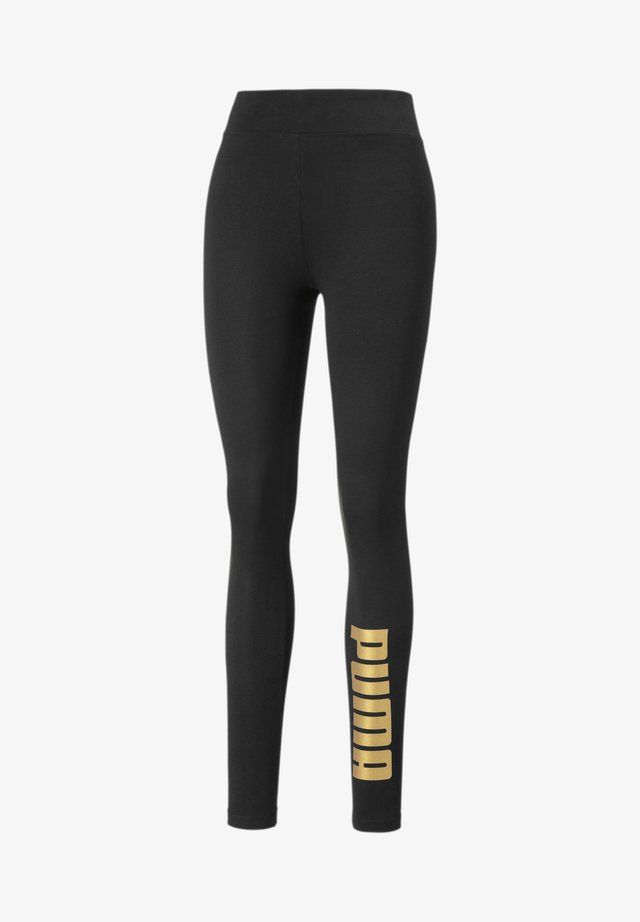 Leggings - Trousers - black-gold