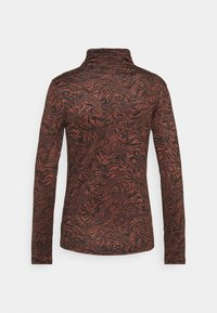Who What Wear - RUCHED TURTLENECK - Long sleeved top - mahogany - 1