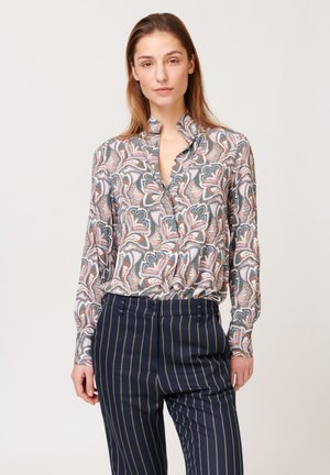 Button-down blouse - trellis blue