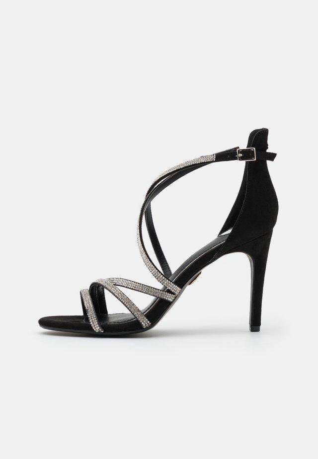MAKAI - Sandales à talons hauts - black/silver