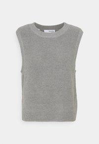 Selected Femme - SLFTAY VEST O-NECK - Jumper - light grey melange - 0