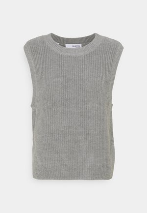 SLFTAY VEST O-NECK - Jumper - light grey melange