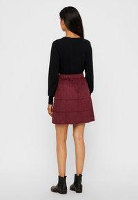 Noisy May - NMLAUREN  - A-line skirt - red - 2