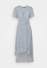 Missguided Petite - HIGH LOW DRESS FLORAL - Day dress - blue - 0