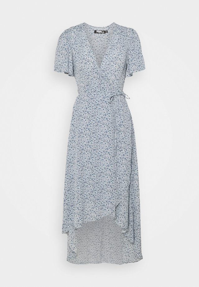 HIGH LOW DRESS FLORAL - Day dress - blue