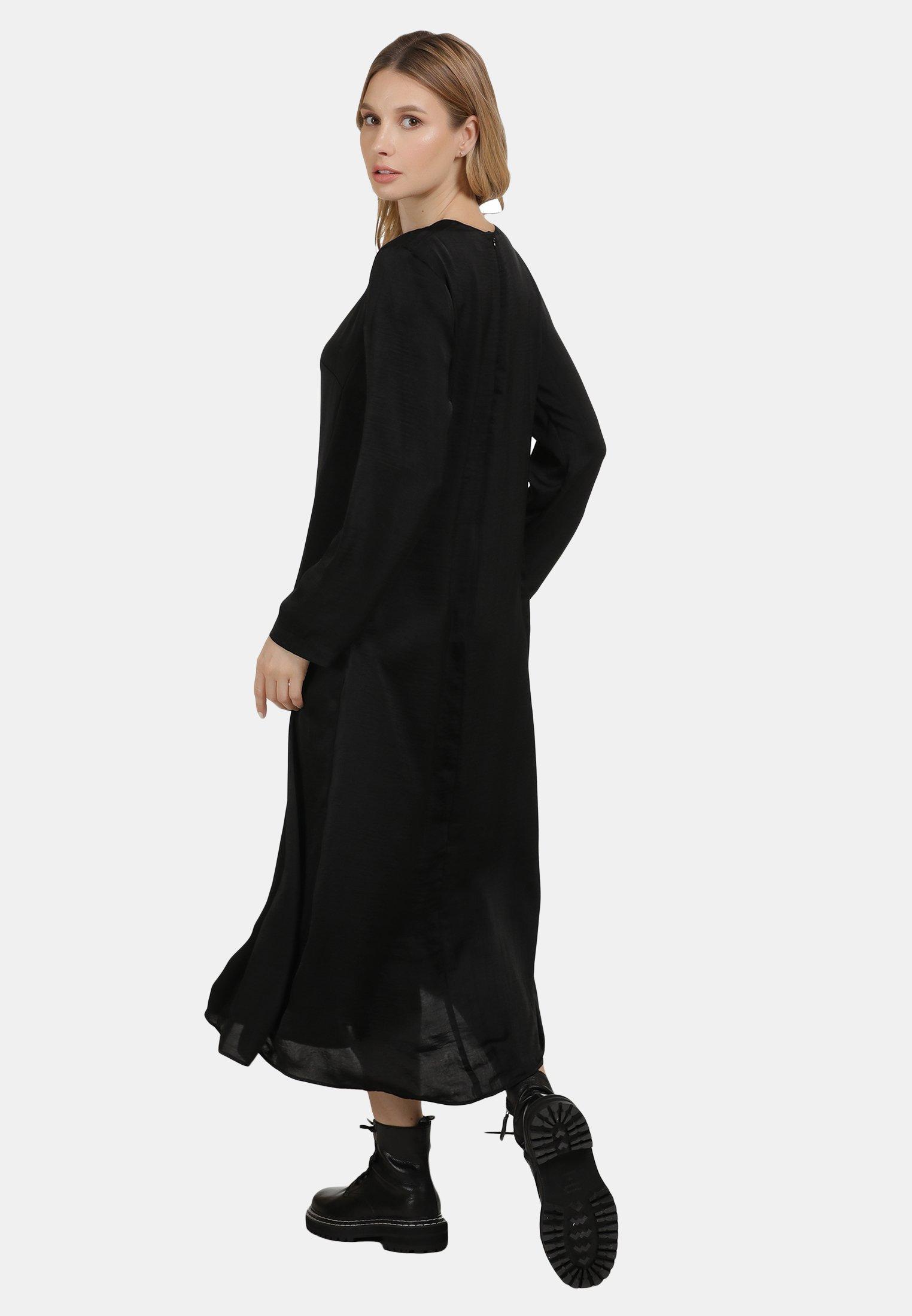 Sale Classic Women's Clothing DreiMaster MIDI-KLEID Day dress schwarz 2iLvVLFsX Re22Ctt5G