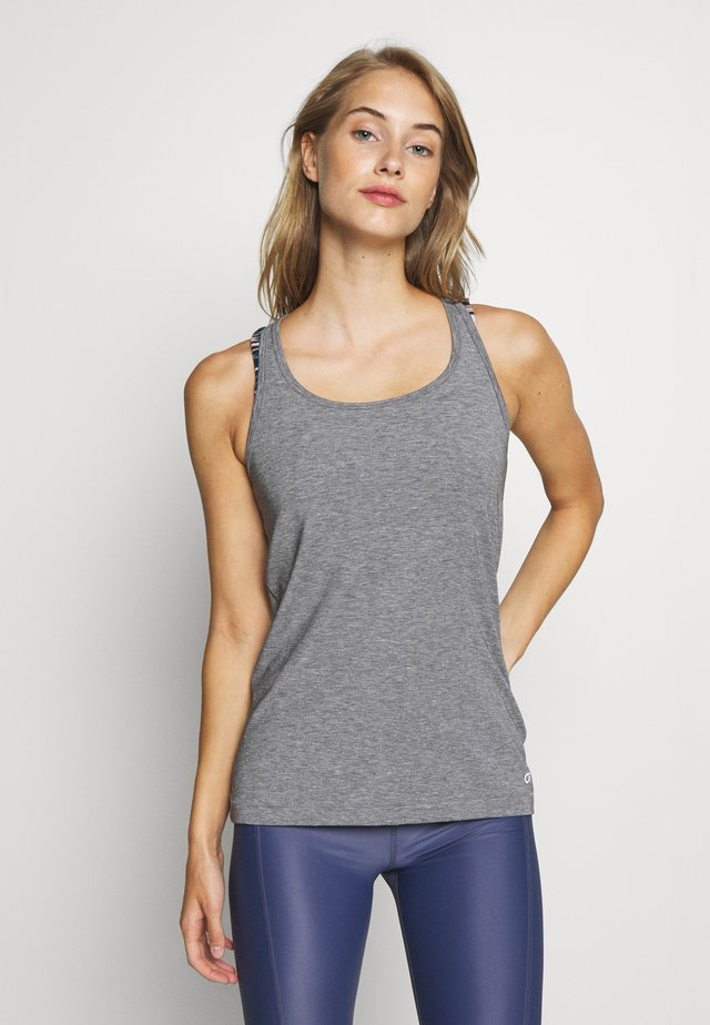 BREATHE TANK - T-shirt sportiva - heather grey