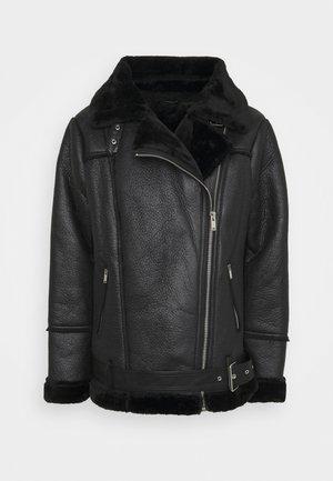 VIMUNKA AVIATOR JACKET - Faux leather jacket - black