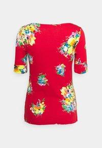 Lauren Ralph Lauren - JUDY ELBOW SLEEVE - Print T-shirt - bright hibiscus/multi - 6