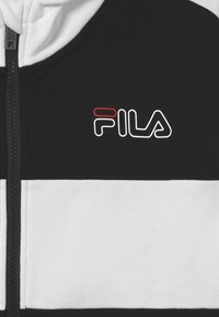 Fila - JULIANO BLOCKED  - Zip-up hoodie - black/bright white - 2