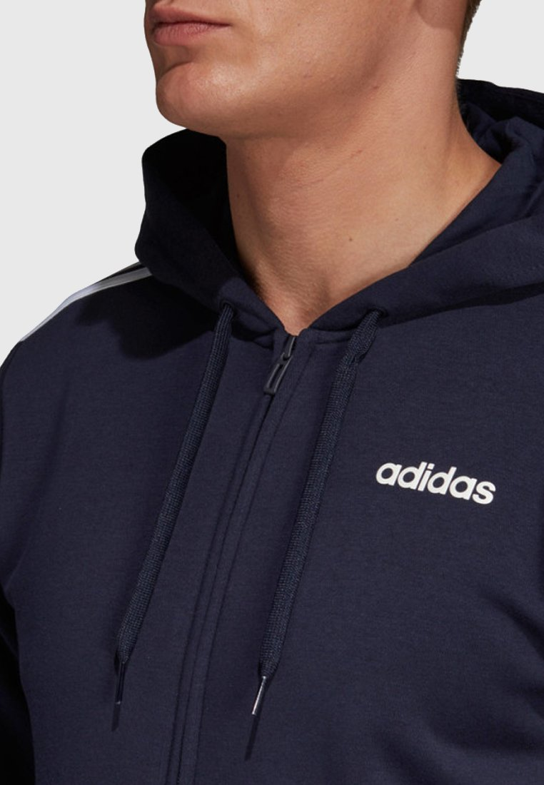 ESSENTIALS 3 STREIFEN Sweatjacke dark blue