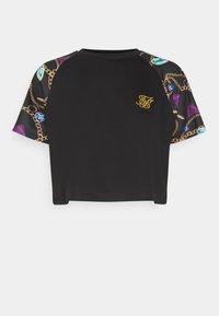 SIKSILK - OPULENCE RAGLAN CROP  - Print T-shirt - black - 0