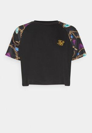 OPULENCE RAGLAN CROP  - Print T-shirt - black