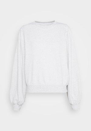 PENNY PLEAT SHOULDER CREW - Sweatshirt - grey