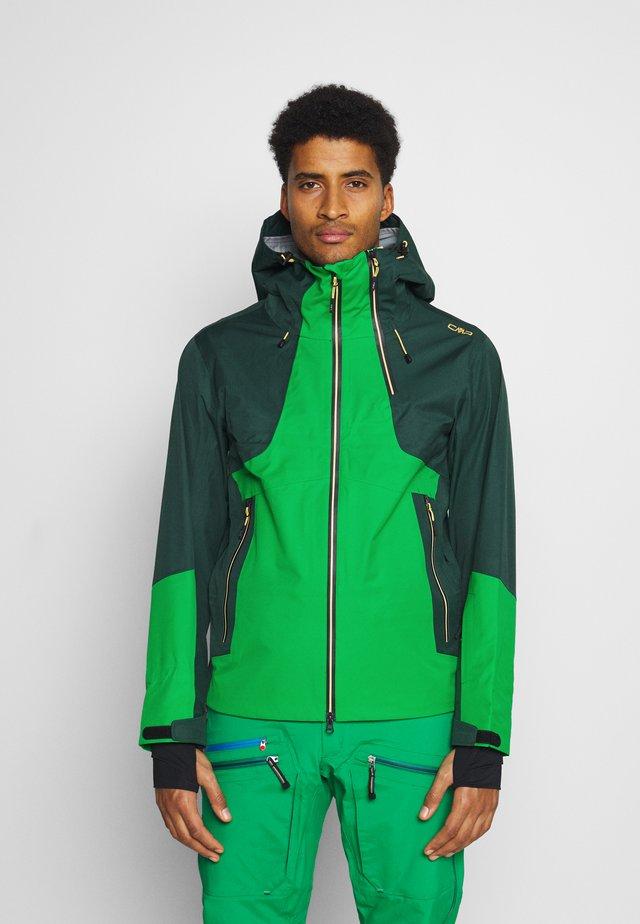 MAN JACKET HOOD - Skijacke - green