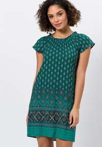 zero - MIT CARMENAUSSCHNITT - Day dress - deep ivy - 0