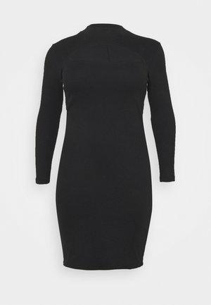 VMSANDRO DRESS - Strikket kjole - black