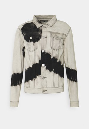 INK TIE DYE JACKET UNISEX - Denim jacket - white